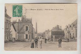 CPA MAUGES SUR LOIRE (Maine Et Loire) - MONTJEAN SUR LOIRE : Place Du Pont Et Route Neuve - Autres Communes