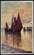 Segelboot, Segelpartie, Pinx V.A. Ribano, 13.1.1917,  Partie En Bateau A Voiles - Andere Illustrators