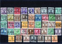 B - Stati Uniti - N. 43 Francobolli Precancel - Stati Uniti