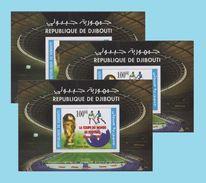 DJIBOUTI SOCCER WORLD CUP GERMANY COUPE MONDE FOOTBALL ALLEMAGNE 3 X BLOC BLOCK S/S 2005 2006 Michel Mi 161 MNH  RARE - Djibouti (1977-...)