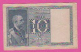 Billet - ITALIE 10 Lires 1939 / 1944 - Pick 25c - Bleu - [ 1] …-1946 : Kingdom