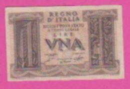 Billet - ITALIE 1 Lira 14 11 1939 - Pick 26 - Marro, - [ 1] …-1946 : Kingdom