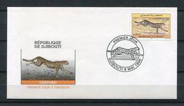 DJIBOUTI ENVELOPPE PREMIER JOUR FDC 1996 Michel Mi 622 GUEPARD - ULTRA RARE - Djibouti (1977-...)