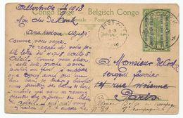 Ruanda Urundi Congo Belge Est Africain Allemand GEA Entier Postal Used Affranchissement Complémentaire 1918 BPCVPK N°11 - Entiers Postaux