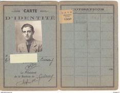 Au Plus Rapide Carte D'identité UFVG Jeunes De La Vienne 1937 Très Bon état - Documents Historiques