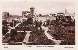 MAROC  Lot De 2 CPA - Rabat  Architecture - Jardins Des Oudayas  . + Bab El Had Et Hôtel Majestic   . Voir 2 SCANS - Rabat