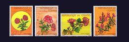 CONGO YT 1096/99 FULL SET FLOWERS FLEURS FLOWER FLEUR  MNH ** RARE - Congo - Brazzaville