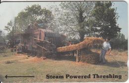 JERSEY ISL. - Steam Powered Threshing, CN : 9JERB(normal 0), Tirage 30000, Used - United Kingdom