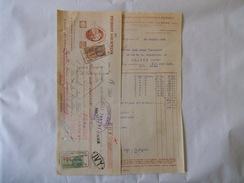IVRY SEINE AU PIERROT GOURMAND ETS G.EVRARD & HERBET 72 RUE DE PARIS CONFISERIE CHOCOLATERIE FACTURE ET TRAITE DE 1933 - Food