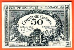 Billet - MONACO - 50 Centimes De 1920 - Série H - Pick 3a - Monaco