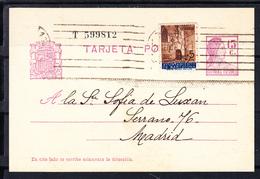 ESPAÑA 1936. MATRONA REPUBLICANA. EDIFIL Nº 68. CIRCULADA BARCELONA MADRID CON ADICIONAL AYUNT. BARCELONA . CECI 1 330 - Enteros Postales