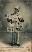 13442    Métier  -  MARCHAND AMBULANT DE CARTES POSTALES  - Postée à RIOM  PUY De DOME  En 1904 - Street Merchants