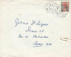 LETTRE 1959 AVEC CACHET HEXAGONAL POINTILLE DE INGERSHEIM - Elsass-Lothringen