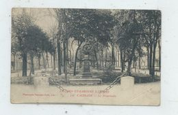 Caussade (82) : Les Promendes Prises De La Statue  En 1915 PF. - Caussade