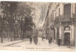**** 25 *****   Besançon Historique   Rue Du Président Wilson Gribouillage à Gommer  - écrite -petits Plis - Besancon