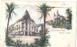 **** MONACO  ****  MONTE CARLO  Alexandra Hotel - TB Neuve - Monte-Carlo