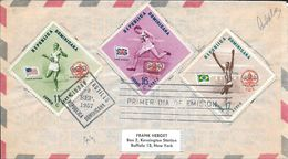 REPUBLICA DOMINICANA JUEGOS OLIMPICOS DE MELBOURNE ROBERT MORROW CHRIS BRASHER A. FEREIRA DA SILVA YVERT AERIENNES - Dominicaanse Republiek
