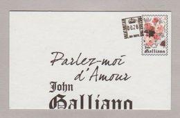 Carte à Pardumer - Perfume Card - John Gallliano Recto Verso - Perfume Cards