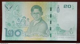 20 Baht König Bhumibol Thailand 20.9.2017 UNC - Thaïlande