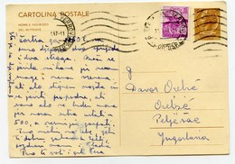 Italy Postal Stationery Postcard Cartolina Postale Travelled 1967 To Yugoslavia B171020 - 6. 1946-.. Repubblica