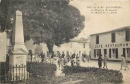 17 - ILE DE RE - LES PORTES - La Place, Le Monument Et L'arbre De La Liberté (animée) - Ile De Ré
