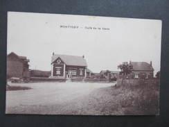 AK MONTIGNY Cafe De La Gare 1920  /// D*28061 - Montigny Le Bretonneux