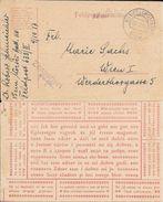 FELDPOSTKARTE YEAR 1917 A MARIE SACHS WIEN I FRANCHISE MILITAIRE 633/II - Ganzsachen