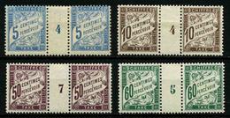 FRANCE -  YT T 28 * + 29 * + 37 ** + 38 ** - TAXE - LOT DE 4 PAIRES DE TIMBRES NEUFS */** AVEC MILLESIMES - Taxes