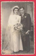 "219735 / PHOTO ""ORLOV "" YAMBOL - WEDDING Marriage 1943 - Bulgaria Bulgarie Bulgarien Bulgarije - Foto Dedicate"