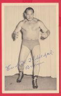 219738 / FAMOUS Wrestling Lutte Ringen MEN AUTOGRAPH - BERLIN - Germany Allemagne Deutschland - Sports
