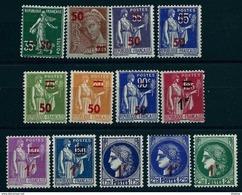 """FR YT 476 à 488 """" TP De 32-38 Avec Surcharge """" 1940-41 Neuf* - Unused Stamps"""