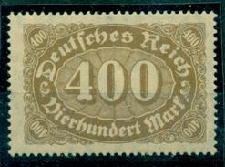 Deutsches Reich. Ziffern Im Queroval, Nr. 222 D  Postfrisch **, Geprüft Infla - Deutschland