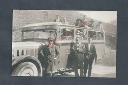 CARTE PHOTO PROMENADE À LA GRANDE CHARTEUSE EN ANCIEN BUS PERSONNAGES NON ECRITE : - Otros