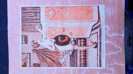 EROTISME-SEINS NUS- NU-NUDE-MAGNIFIQUE GRAVURE 1900 A ENCADRER- FEMME AU CHAPEAU PARAVENT -ILLUSTRATEUR H. GERBAULT - Engravings