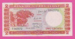 Billet - SIERRA LEONE - 2 Leones De ( 1964 ) Péfix B/12 - Pick 2a - Banknotes