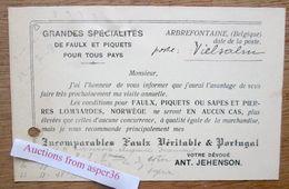 "Carte ""Faulx, Ant. Jehenson, Arbrefontaine 1923"" - Colecciones"