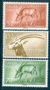 SPANISH SAHARA 1955 Colonial Stamp Day, Scimitar Oryx Set (3v), XF MLH, MiNr 154-6, SG 120-2 - Stamps