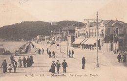 Cp , 13 , MARSEILLE , La Plage Du Prado - Castellane, Prado, Menpenti, Rouet