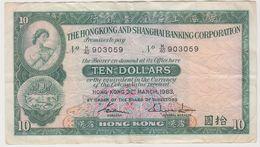 HONG KONG 10 Dollars 1983 P182j VF - Hong Kong