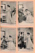 Serie 8 Cpa Carte Postale Ancienne - Les Deux Visites - Royer Nancy - Fantasia
