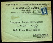 A4964) France Brief Paris 8.8.24 Compagnie Neerlandaise U. Olympia-Stpl. - Frankreich