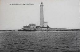 CPA - FRANCE - MARSEILLE - Le Phare Du Planier Avec PLANIER écrit PLAINER - Daté 1918 - En TBE - Château D'If, Frioul, Iles ...