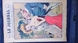 75- PARIS- REVUE LE JOURNAL- JEUDI 22 NOVEMBRE 1900- ILLUSTRATEUR F. BAC- ARGENT FEMME CHAPEAU-PASQUIER-VILLON- - Books, Magazines, Comics
