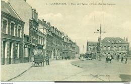 Lambersart - Place De L'Eglise Et L'Ecole Libre Des -Garçons. - Lambersart