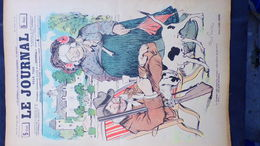 75- PARIS- REVUE LE JOURNAL- JEUDI 11 OCTOBRE 1900- ILLUSTRATEUR ABEL FAIVRE-CHIEN CHASSE PERDRIX-CHASSEUR-VALVERANE- - Books, Magazines, Comics