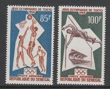 PAIRE NEUVE DU SENEGAL - JEUX OLYMPIQUES DE TOKYO (BASKET-BALL ET SAUT EN HAUTEUR) N° Y&T PA 43/44 - Summer 1964: Tokyo