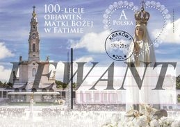 M POLAND Postcard 2017.05.13. Cp 1773 100th Anniversary Of The Apparitions Of Our Lady Of Fatima - Used - Stamped Stationery