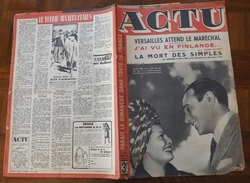 ACTU N° 36 DE 1943 / Tino Rossi / Maquettiste / Victoires De Staline / Finlande - Informations Générales