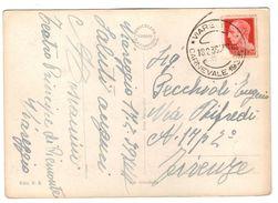Viareggio - Viale Margherita - Viaggiata 18.2.39 - Annullo Carnevale 1939 - Autografo Aldo Toscanini - 1900-44 Vittorio Emanuele III