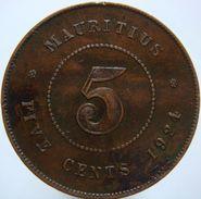 Mauritius 5 Cents 1924 - Mauritius
